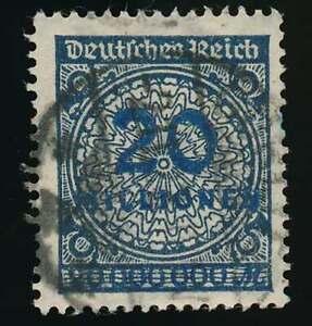 D-Reich-Nr-319-A-Wb-gestempelt-20-MIO-schwarzblau-ATTEST-Tworek-BPP-61845