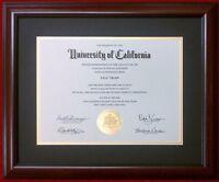 Diploma Matte Mahogany Red Black Cherry Frame University Tp520 Frames4art