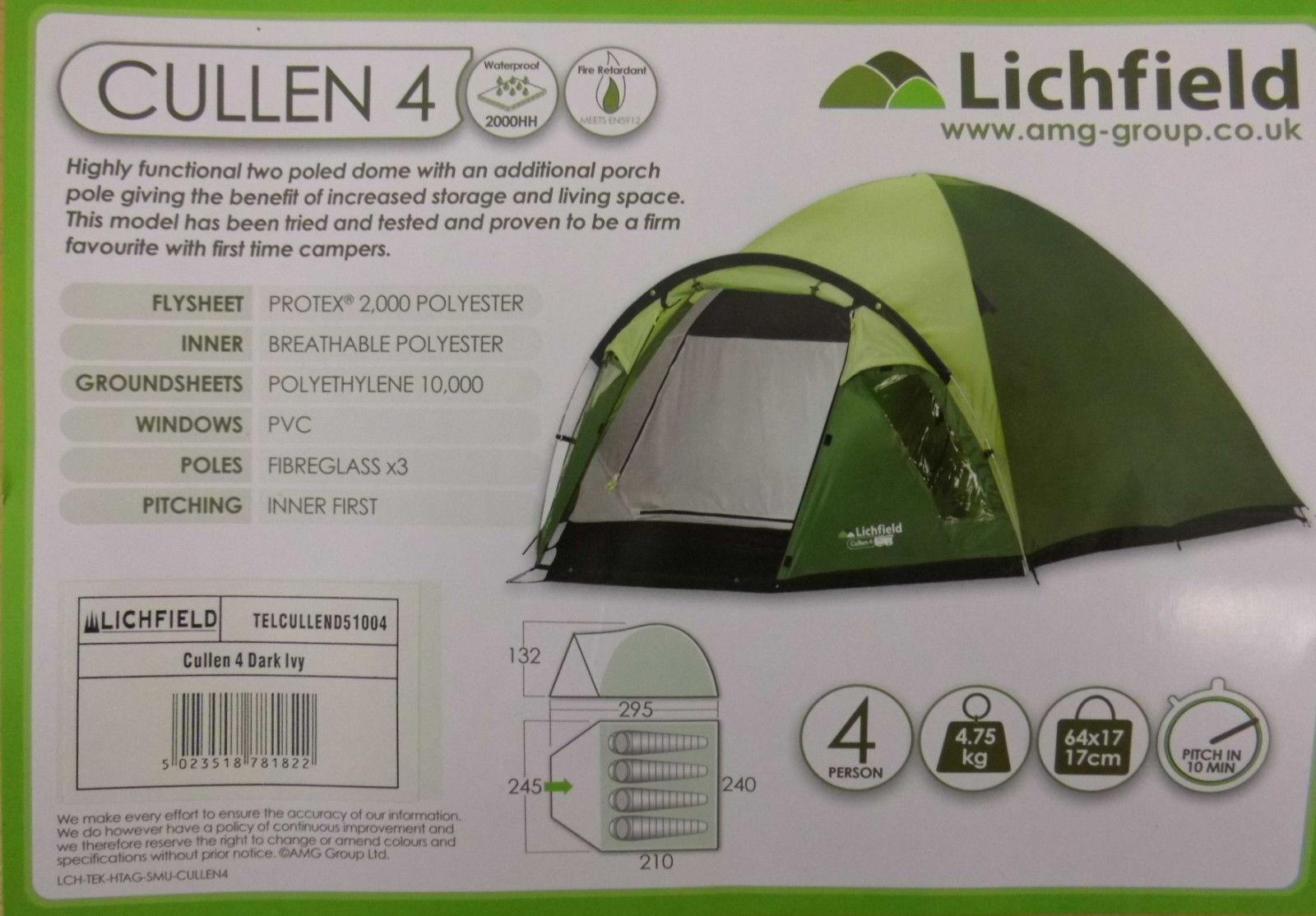 Lichfield Campingzelt Cullen 4, 4, 4, 210x240x130 365ca9