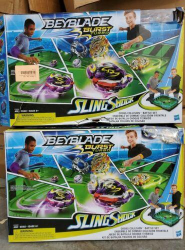 NIB Hasbro BEYBLADE Burst Turbo Slingshock Cross Collision Battle Set