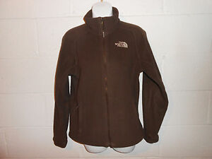 fb28e09d0 Details about Women's Brown The North Face Full Zip Fleece Jacket Small
