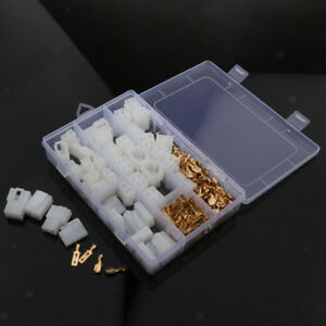 20 Kits 2 4 Pin 6.3mm Crimp Terminal Cable Locking Male Female Connector