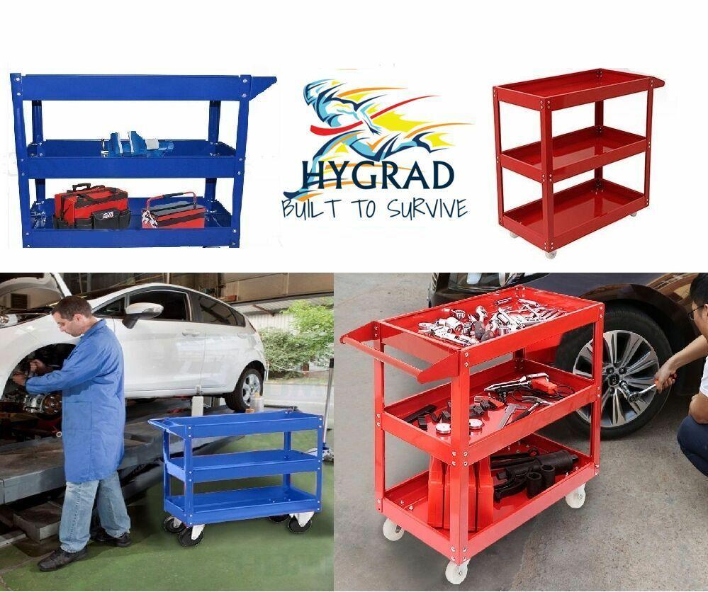 Tool Cart Trolley 3 Tier Shelf Heavy Duty Garage Workshop DIY Tool Storage Wheel Cart Trolley Load Capacity 200Kg 1
