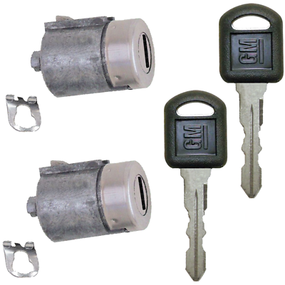 Door Lock Cylinder Set with 2 Keys For 1995-2000 CHEVY GMC TRUCK SUBURBAN