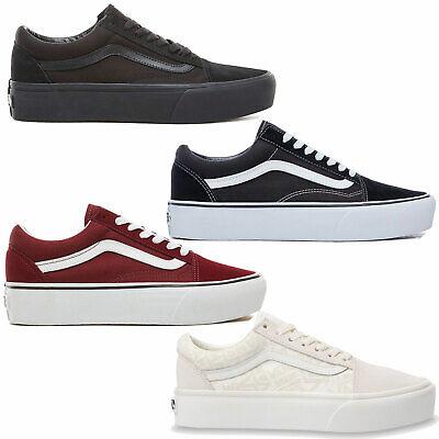 Vans Old Skool Platform Damen Schuhe Sneaker Plateauschuhe Plateaus Plateau NEU | eBay