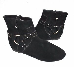 3b6e9e9c0ffc New Ted Baker Sonoar Suede Black Women s Ankle Booties Boots Size 37 ...