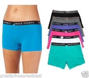 6-Womens-Sports-Cotton-Boxer-Shorts-BoyShorts-Yoga-Fitness-Gym-D-Lot-159-XL