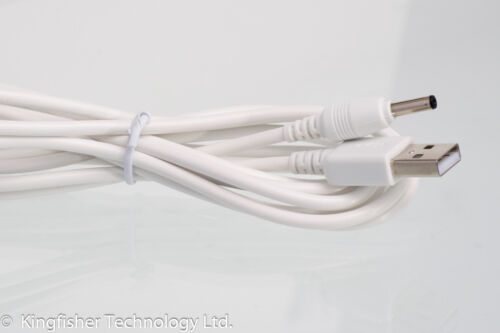 2m USB White Cable for Motorola MBP667CONNECT Parent/'s Unit Baby Monitor