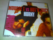 MOUSSE T VS HOT 'N' JUICY - HORNY - 6 MIX HOUSE CD SINGLE