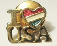 Vintage 1981 Avon I Love Usa Tac Pin - Goldtone/enamel-new In Box-free Shipping