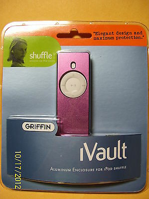 NEW Griffin iVault Metal Jacket for Ipod Shuffle silver