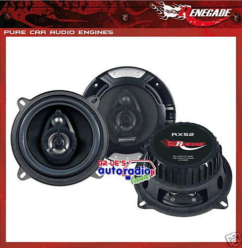 Renegade rx52 altavoces coche 130 mm triax altavoces con rejilla