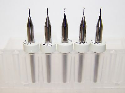 "(5) - 0.50mm (.0197"") 3 FLUTE MICRO CARBIDE ENDMILLS Kyocera Tycom"