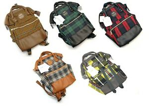 Anello-Checkers-Pattern-Mini-Backpack-Rucksack-Women-Canvas-Bag-Japan-AT-B2921