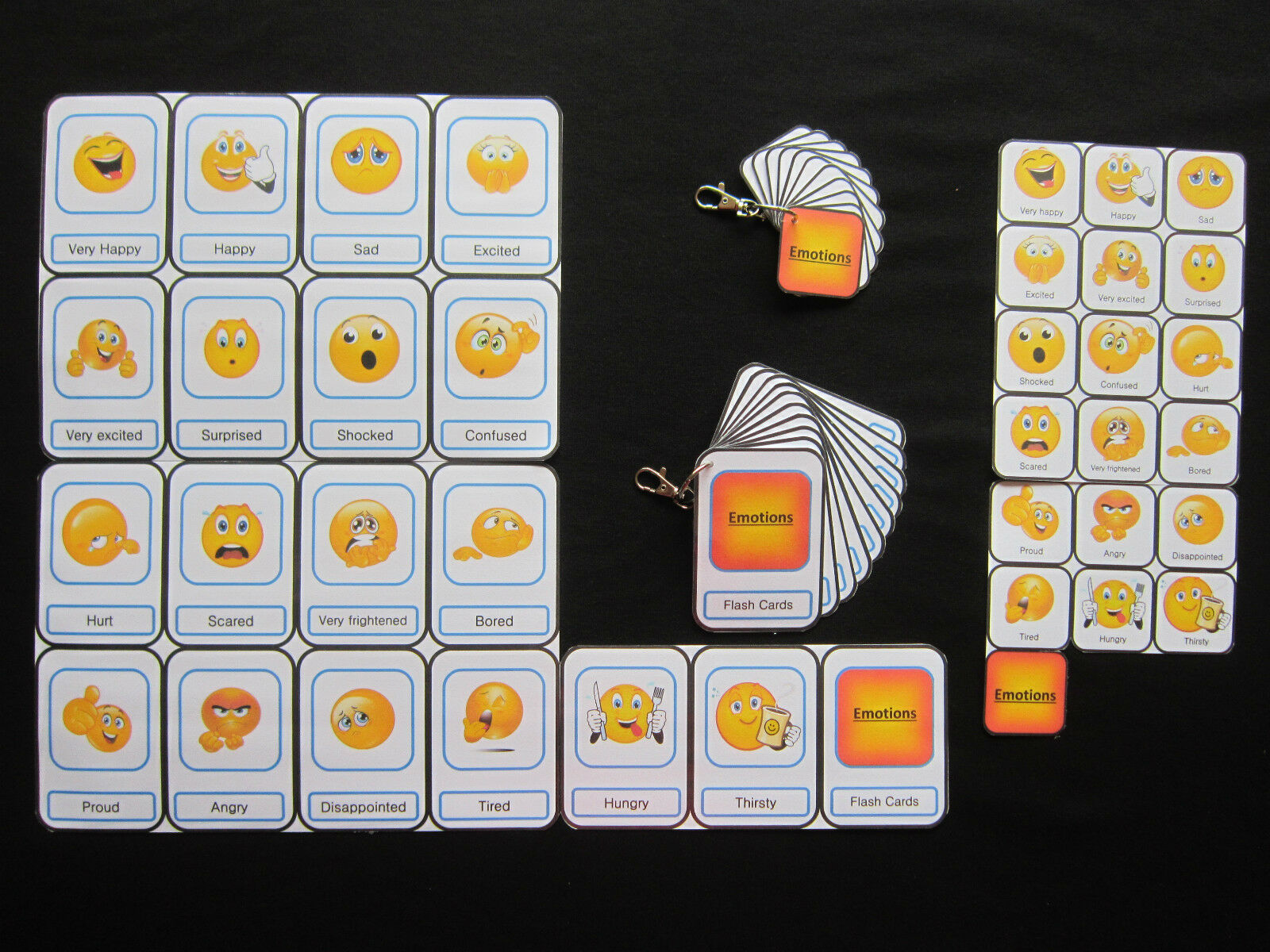 Emotions Cards -Autism PECS Non verbal Early Yrs Visual Aid Dementia EASL