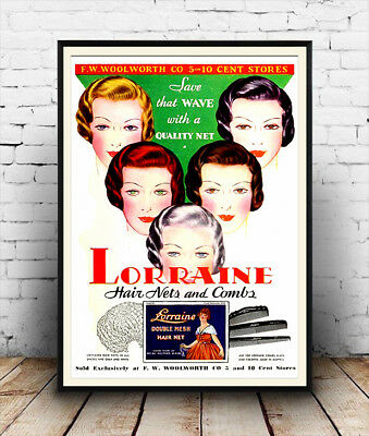 Poster Reproduction Woolworths Vintage Shopping Advert 1949 Wall art