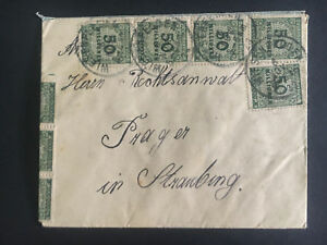 1923 Weisenfeld Germany Inflation Rate Cover to Strassburg $1 billion RM