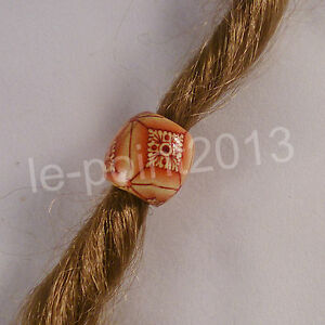 2x Bead Charm Perle Haarperle Boho Ethno Vintage Folklore Dreadlocks Bartperle