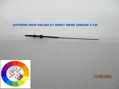 Corgi Dinky Lot de 10 antennes noires 7 cm pour chars Solido etc...