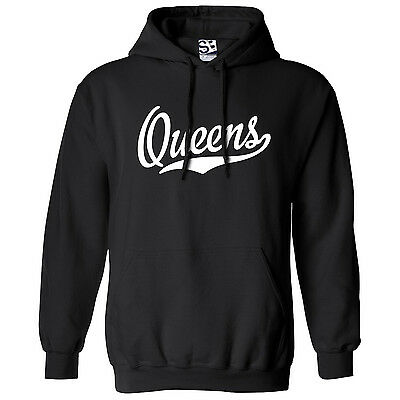 Queens Script & Tail HOODIE - Hooded School Sports Team Sweatshirt - All Colors