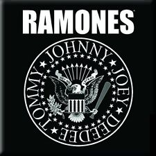 "THE RAMONES Crest  fridge magnet 3"" square metal gift free UK P&P"