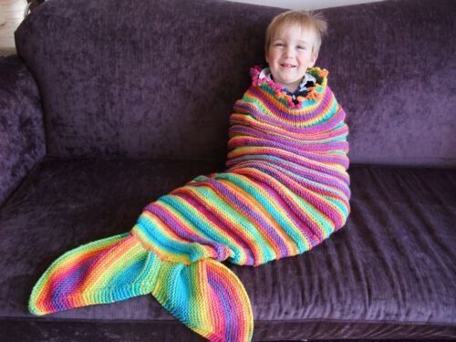 PAPERS ONLY TO MAKE TITANIA /& SPLASH MERMAID TAIL COCOONS 2 KNITTING PATTERN