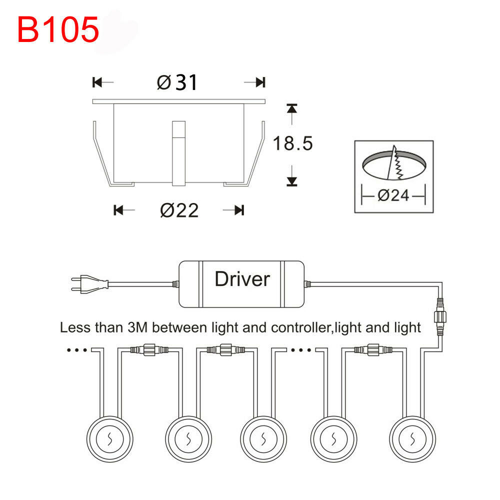 10er 31mm 31mm 31mm RGB WIFI Kontroller Timer LED Boden Strahler Treppe Küche Lampe Spot | Outlet Online  | Zuverlässige Leistung  | Sale  a0c681