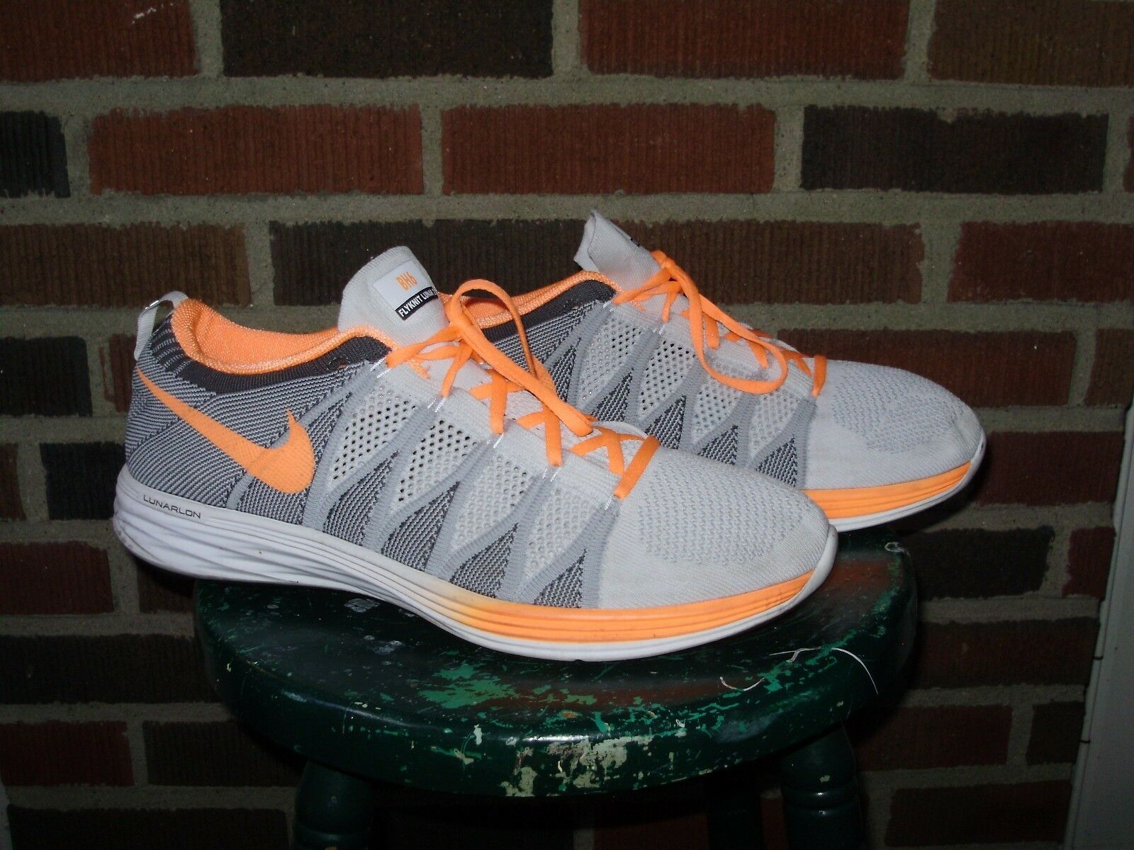 NIKE ID FLYKNIT LUNAR 2 RUNNING SHOES TRAINERS owned by BRIAN HOYER mens 13