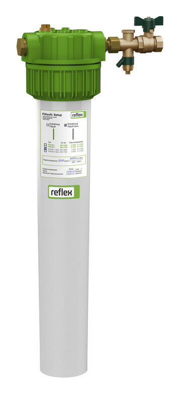Reflex Fillsoft Patronengehäuse Enthärten + Entsalzung + Ersatzpatrone ZERO 3000