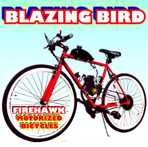 "BLAZING BIRD 50 80 CC GAS MOTOR MOTORIZED ENGINE /& 26/"" BIKE BICYCLE SCOOTER KIT"