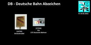 DB Deutsche Bahn (Eisenbahn/Railroad) Abzeichen Anstecknadeln AUSSUCHEN