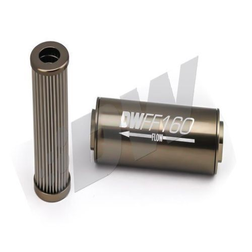 Deatschwerks 8an 100 Micron Inline Fuel Filter Housing 160mm 803: 100 Micron Inline Fuel Filter At Diziabc.com