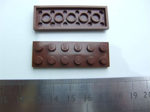 2 x Lego brown plate Parts /& Pieces – 4211247 size 2X6