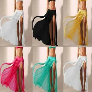 a46b998977 NEW Sheer Soft Mesh Bikini Cover Up Long Maxi Skirt Beachwear ...