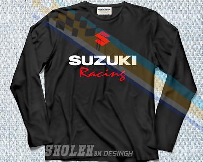 LIMITED TEAM SUZUKI Racing T-SHIRT MOTORCYCLE MOTORRAD SPORT LONG SLEEVE