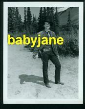 HUGH O'BRIAN VINTAGE 4X5 PHOTO RARE WARDROBE TEST 1954 O'ROURKE OF ROYAL MOUNTED
