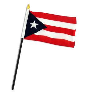 "Haiti 4/""x6/"" Flag Desk Table Stick"