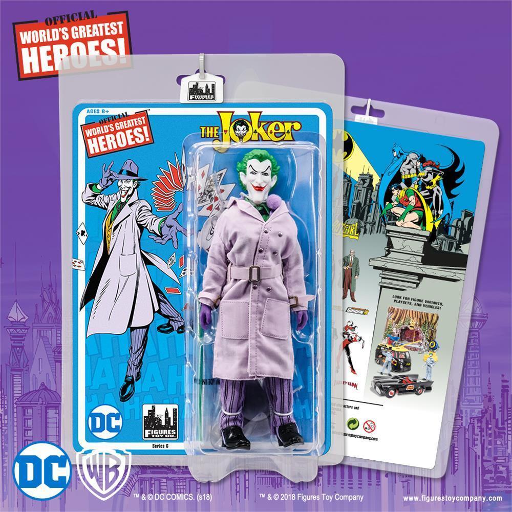 DC Comics Batuomo RETRO MEGO Il Joker 8 pollici azione cifra SERIE 6
