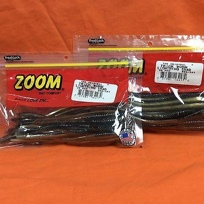 "#006-364 Lavender Shad 20cnt 2 PCKS ZOOM 6.5/"" Trick Worm"