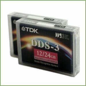 NEW-SEALED-TDK-DDS3-DDS-3-Premium-DAT-Data-Tape-Cartridge-12-24GB-DC4-125S-4mm
