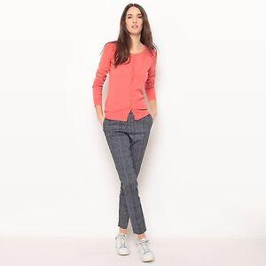 Women-Round-Neck-BG-Long-Sleeve-Ladies-Fine-soft-Knit-Button-Blouse-Cardigan-Top