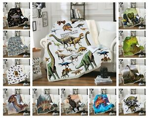 Novelty-Cool-Jurassic-Dinosaurs-T-Rex-Warm-Fleece-Sofa-Throw-Bedspread-Blanket