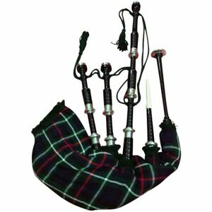 2db60d778a Image is loading HM-SCOTTISH-GREAT-HIGHLAND-BAGPIPES-ROSEWOOD-BLACK-SILVER-