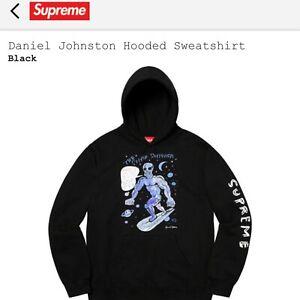 Supreme-Daniel-Johnston-Hooded-Sweatshirt-Hoodie-Black-LARGE-IN-HAND