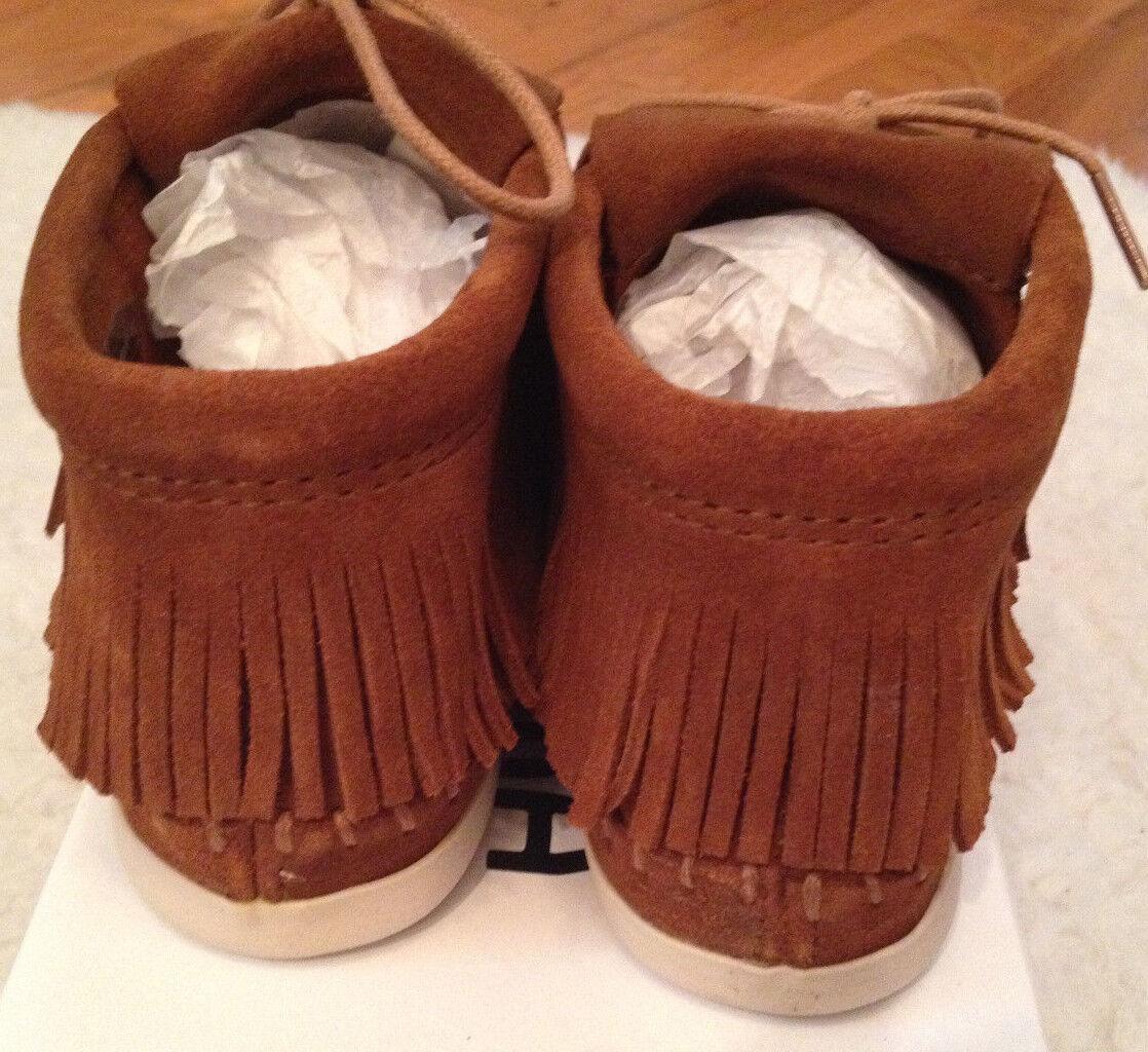 NIB MINNETONKA Venice BROWN Stiefel Bootie 452T FRINGE Leder Stiefel BROWN Schuhes Damenschuhe 6 M 8822c2