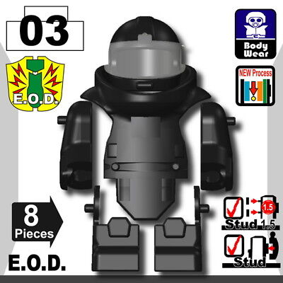 Dark Tan EOD Suit for LEGO army military brick minifigures