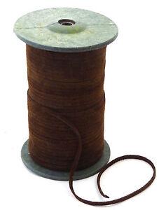 Lederband-flach-3-5mm-breit-Lederriemen-Wildleder-braun-1-50-2-50-1m