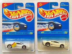 1995 HOTWHEELS JAGUAR XJ220 White Pearl Driver LOTTO X2 VARIANTE! Nuovo di zecca! molto rara!