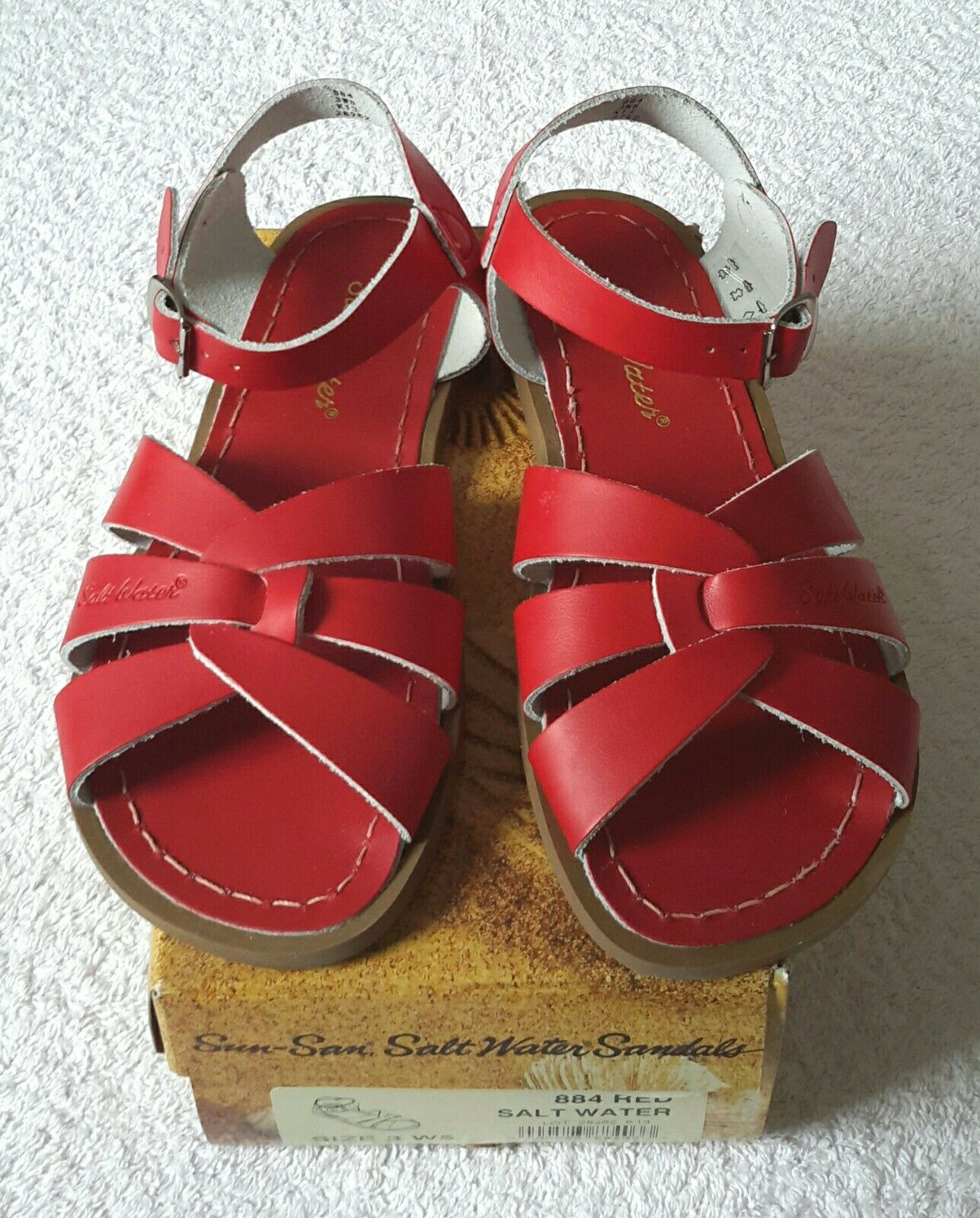 Saltwater Sandals NEW, Red Size 35 (EU) NEW, Sandals BOXED & GENUINE c1f66d