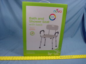 Nova Ortho Med 9036 R 9036r Bath And Shower Seat With Back